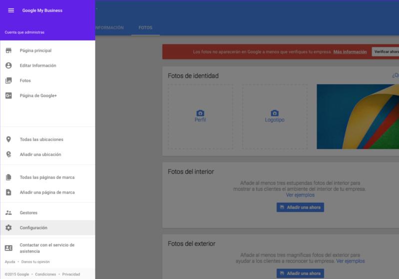 Google + Configuración