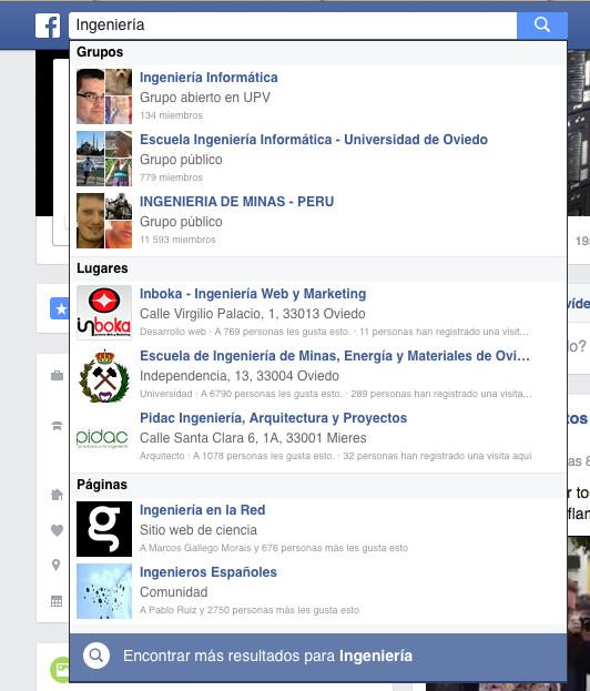 Grupos de Facebook más resultados