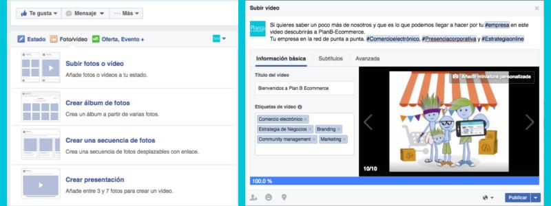 Subir vídeos a Facebook